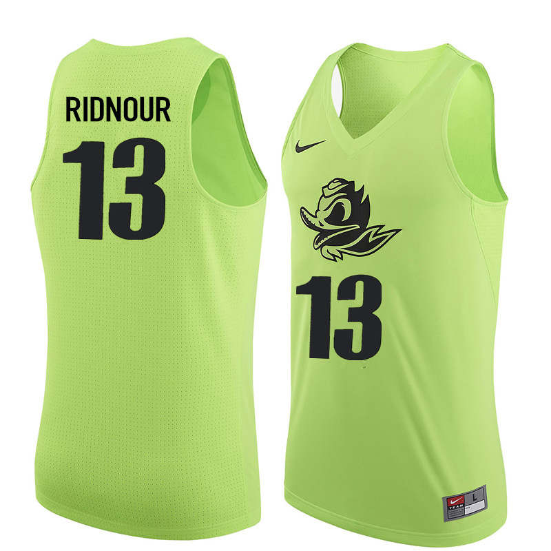 Men Oregon Ducks #13 Luke Ridnour College Basketball Jerseys Sale-Electric Green
